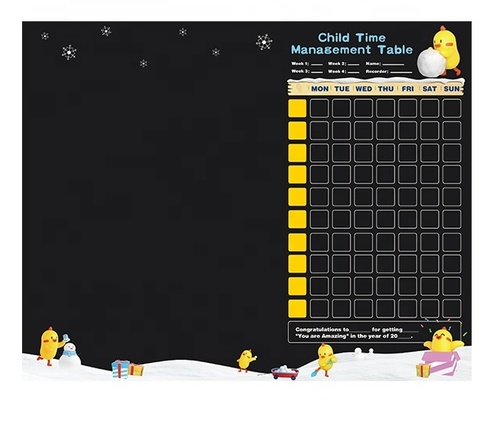 Customize Dry Erase Magnetic Reward and Responsibility Chart self-adhesive whiteboard for kids