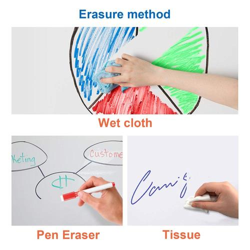Dry Erase Magnetic Self Adhesive writing Whiteboard Film