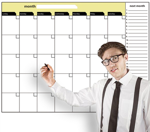 Customize magnetic office schedule whiteboard company culture wall